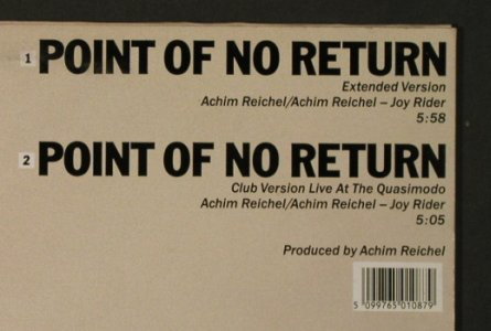 Joy Rider: Point of no Return*2, vg+/m-, CBS(650 108 6), NL, 1986 - 12inch - H4250 - 4,00 Euro