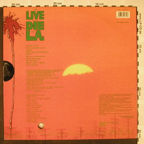 To Live And Die In L.A.: Soundtrack by Wang Chung, stoc, Geffen(GEF 70271), D, 1985 - LP - H4490 - 5,00 Euro