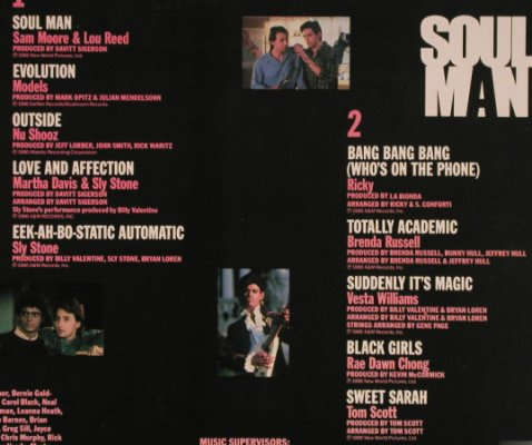 Soul Man: Sam Moore&LouReed...Tom Scott, V.A., AM(393903-1), D, 10 Tr., 1986 - LP - H565 - 5,00 Euro