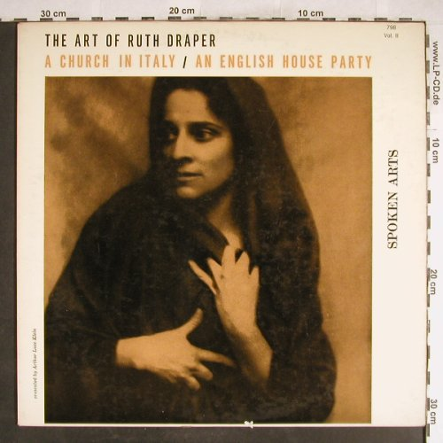 Draper,Ruth: The Art of,A Church in Italy..., Spoken Arts(SA 798 Vol.II), US,vg+/vg+,  - LP - H6825 - 5,00 Euro