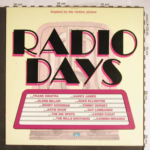 Radio Days: Harry James...Carmen Miranda, Lotus(LOP 14149), I, 18 Tr., 1987 - LP - H6987 - 5,00 Euro