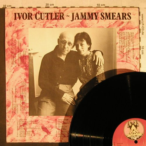 Cutler,Ivor: Jammy Smears, vg+/m-, Virgin(V2065), UK, 1976 - LP - H939 - 9,00 Euro