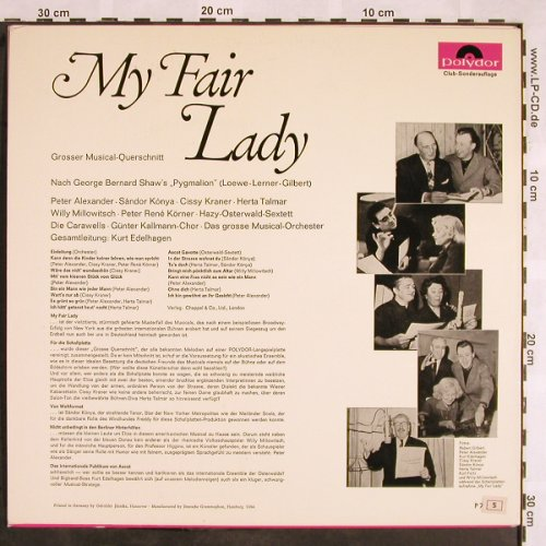 My Fair Lady: Großer Musical-Querschnitt, Polydor(P 72 529), D,Club Ed,  - LP - X1385 - 6,00 Euro