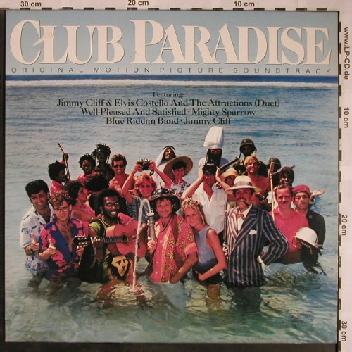 Club Paradise: Original Soundtrack, m-/vg+, CBS(CBS 70 298), NL, 1986 - LP - X1483 - 4,00 Euro