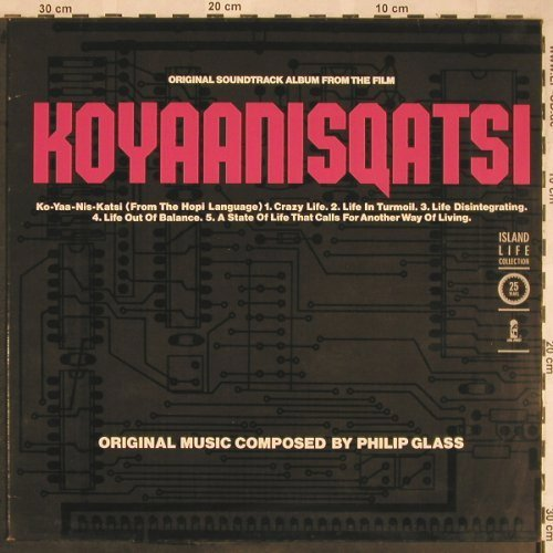Koyaanisqatsi: Soundtrack By Philip Glass, Ri, Island(205 626), D, 1983 - LP - X1523 - 9,00 Euro