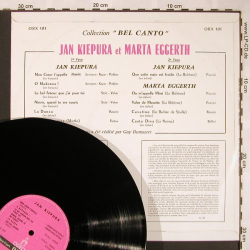 "Eggerth,Marta & Jan Kiepura: Collection ""Bel Canto"", vg+/m-, Odeon(ORX 101), F,  - LP - X1579 - 5,00 Euro"