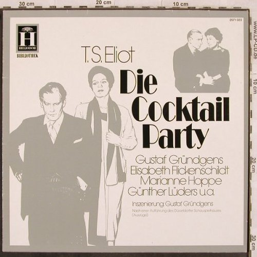 Die Cocktail Party - T.S.Eliot: Gründgens,Flickenschild..'65, Heliodor(2571 023), D, Ri,  - LP - X181 - 6,00 Euro