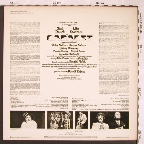 Cabaret: Original London Cast '1973, CBS Embassy(31 490), UK, Ri,  - LP - X1841 - 5,50 Euro