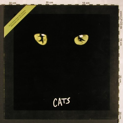 Cats: Selections,Original Broadway Cast, Geffen(GEF 70232), NL, 1983 - LP - X1844 - 4,00 Euro