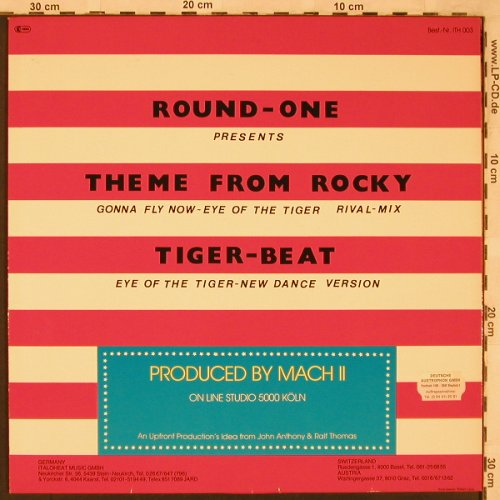 Round-One(Rocky): Theme fr.Rocky,Rival Mix+Tiger Beat, Italoheat(ITH 003), D,Lim.Ed., 1984 - 12inch - X2296 - 4,00 Euro