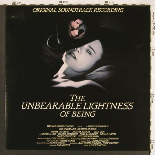 Unbearable Lightnes of Being: OST, m-/vg+, Metronome(835 918-1), D, 1988 - LP - X3787 - 7,50 Euro