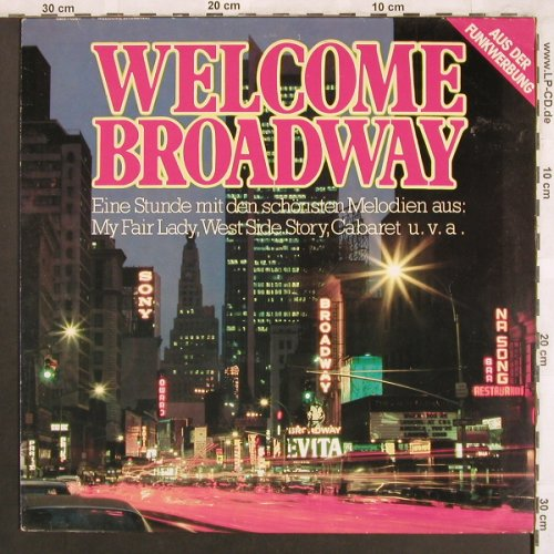 V.A.Welcome Broadway: Joel Grey Company...Elain Stritch, CBS(70 207), NL, 1981 - LP - X3852 - 5,00 Euro