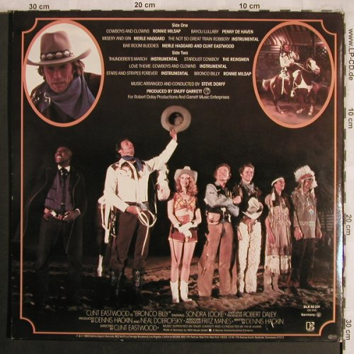 Bronco Billy - Clint Eastwood's: Original Soundtrack, Foc, Elektra(ELK 52 231), D, 1980 - LP - X4315 - 6,00 Euro