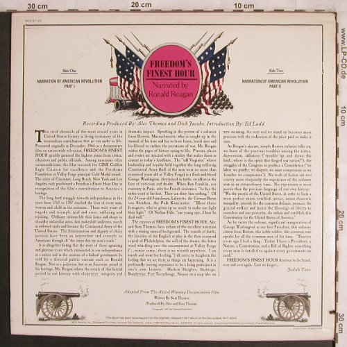 Reagan,Ronald - Narrated by: Freedom's Finest Hour,Co, MCA(MCA-37 122), US, 1981 - LP - X4336 - 7,50 Euro
