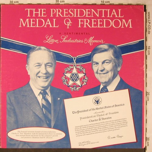 Reagan,Ronald - The Presidental: Medal of Freedom, Okt.1981, Litton Industries(FPV49024), US,spoken,  - LP - X5505 - 7,50 Euro