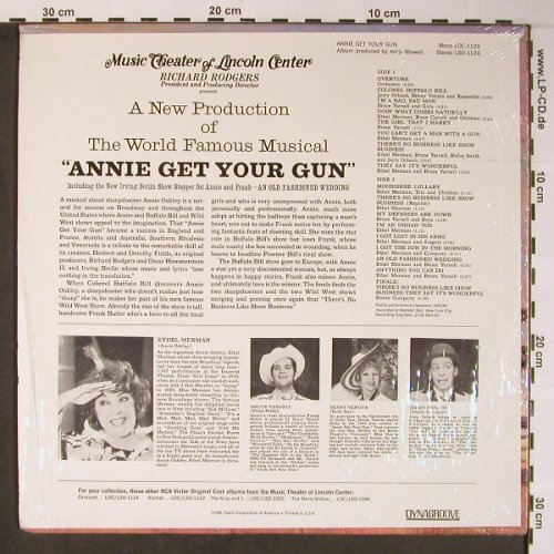 Annie Get Your Gun: Ethel Merman, orignal cast, RCA(LSO-1124), US,  - LP - X5956 - 9,00 Euro