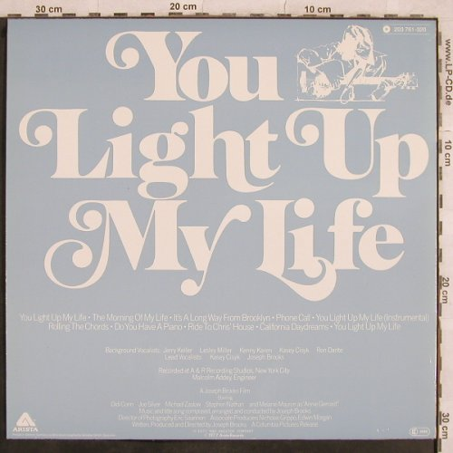 You Light Up my Life: Orig.Soundtrack-Stern meines Lebens, Arista(203 761-320), D, 1977 - LP - X604 - 3,00 Euro