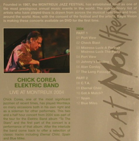 Corea,Chick  Electric Band: Live at Montreux, FS-New, Eagle(EREDV510), , 2005 - DVD - 20146 - 10,00 Euro
