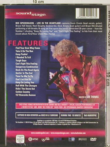 Reo Speedwagon: Live in the Heartland (NTSC),FS-New, HD Ready(Sound 003), 5.1, 2008 - DVD-V - 20204 - 10,00 Euro