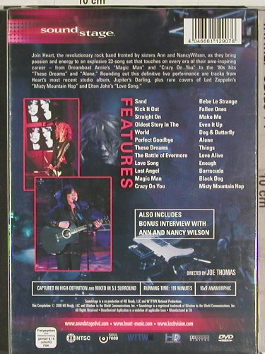 Heart: Live, 5.1, FS-New, HD Ready(SOUND 002), EU, 2008 - DVD-V - 20205 - 14,00 Euro