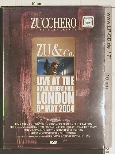 Zucchero - Zu & Co.: Live at t. Royal Albert Hall,FS-New, Universal(9868374), EU, PAL, 2004 - DVD-V - 20218 - 10,00 Euro
