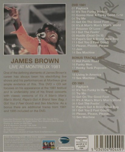 Brown,James: Live at Montreux 1981,+ CD, FS-New, Eagle(ERDVCD044), , 2006 - DVD/CD - 20191 - 12,50 Euro