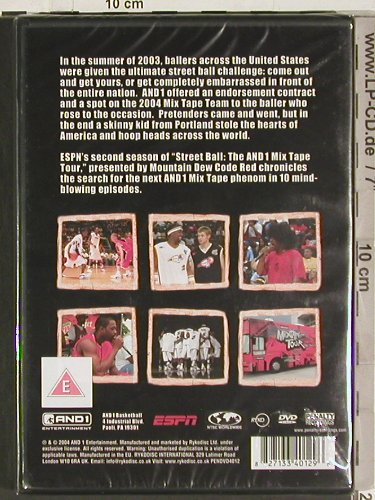 V.A.Street Ball: The And1 Mix Tape Tour-Season 2, Ryco(PENDVD4012), EU, FS-New, 2004 - DVD-V - 20201 - 7,50 Euro