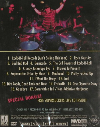 Supersuckers: From t.Audio/ViedeoDep.Live Anaheim, Mid-Fi Rec.FS-New(CRASDVD039), US,NTSC(0), 2004 - DVD+CD - 20019 - 7,50 Euro