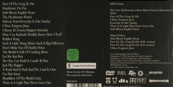Morrissey: Who put the 'M' in Manchester, Sanctuary(SVE4010), , 04 - DVD - 20076 - 7,50 Euro