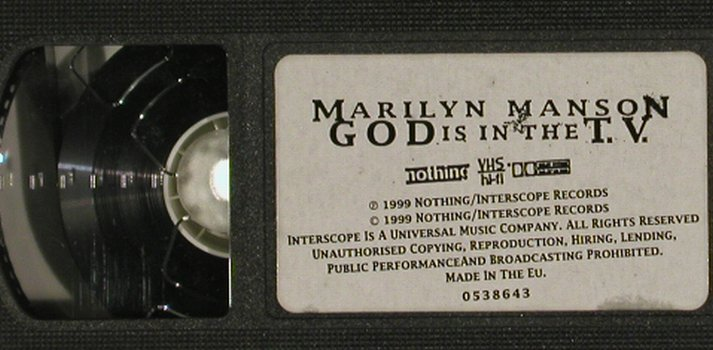 Mansons,Marilyn: God is in the T.V., Nothing/Interscope(0538643), EU, 1999 - VHS - 20174 - 3,00 Euro