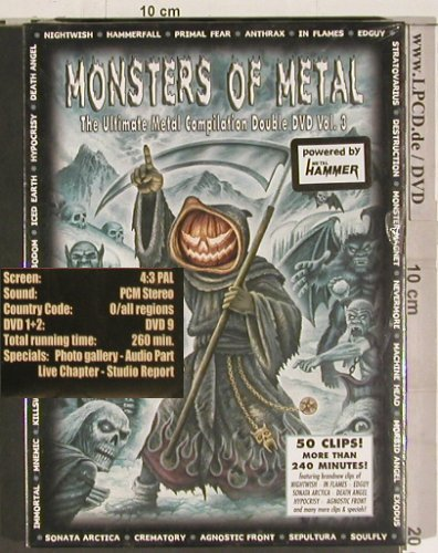 V.A.Monsters of Metal Vol. 3: Nightwish...Stratovarius, FS-New, Nucl.Blast(), D, 2006 - 2DVD-V - 20136 - 15,00 Euro
