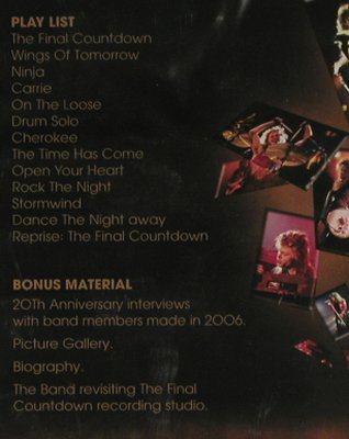 Europe: Live in Sweden,Final Countd.T.1986,, Hell & Back(H&B001DVD), EU,FS-New, 2006 - DVD-V - 20150 - 10,00 Euro