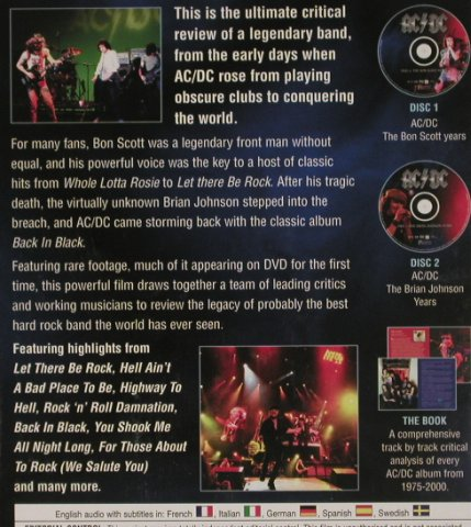 AC/DC: Music in Review,Book and 2DVD, Sandbeach(CRP2056), EU, 2006 - 2DVD-V - 20153 - 14,00 Euro