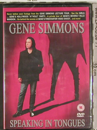 Simmons,Gene: Speaking in Tongues, FS-New, Sanctuary(SVE4009), , 2004 - DVD-V - 20200 - 10,00 Euro