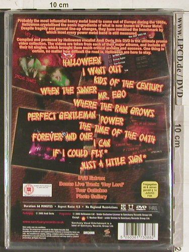 Helloween: Hellish Videos,The Complete, FS-New, Sanctuary(SVE3088), EU, 2005 - DVD-V - 20240 - 10,00 Euro