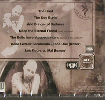 Sopor Aeternus & Ensemble o.Shadows: The Goat &other re-animated Bodies, Apocalyptic Vision(AV-022-DVD), EU,PAL, 2009 - DVD - 20249 - 11,50 Euro