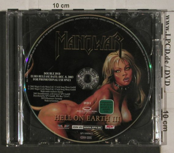 Manowar: Hell On Earth, Promo, No Cover, Steamhammer(80000623), EU, 2003 - 2DVD - 20252 - 10,00 Euro