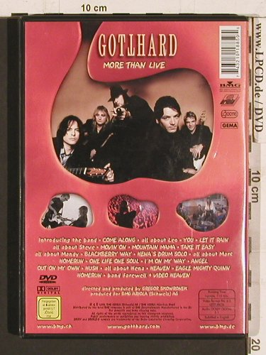 Gotthard: More Than Live, BMG(743219188595), EU, 2002 - DVD - 20268 - 5,00 Euro