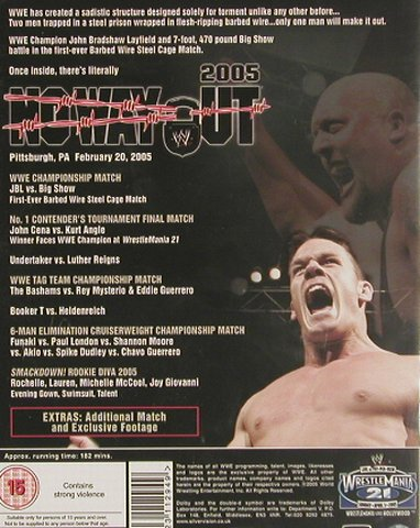World Wrestling Entertainment: No Way Out 2005, Silver Vision(WWE1107), UK, 2005 - DVD-V - 20064 - 5,00 Euro