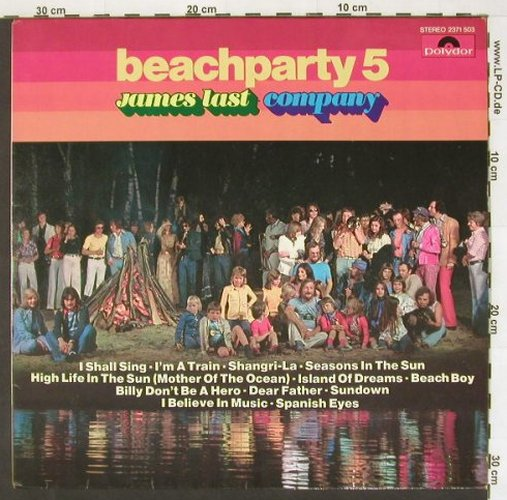 Last,James: Beachparty 5, Polydor(2371 503), D, 1974 - LP - A6122 - 5,50 Euro