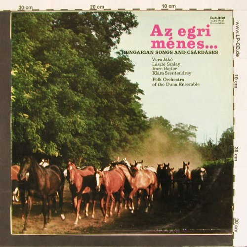 Folk Orchestra of the Duna Ensemble: Az egri menes..., Qualiton(SLPX 10145), H, 78 - LP - B8551 - 5,50 Euro