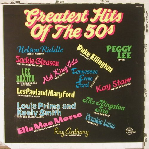 V.A.Greatest Hits of the Fifties: N.K. Cole, P. Lee, F. Laine u.a., Emidisc(048-51.108), NL,  - LP - C1555 - 5,00 Euro