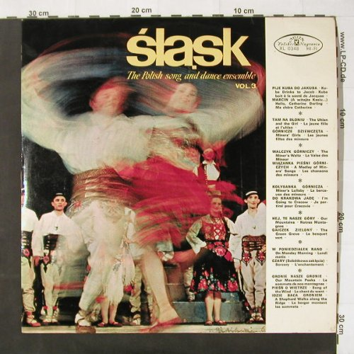 Polish Song & Dance Ensemble: Slask Vol.3, Muza(XL 0348), PL, 67 - LP - C2564 - 5,50 Euro