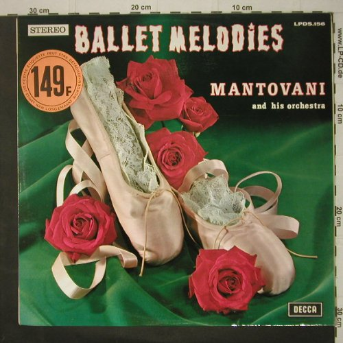 Mantovani and his Orchestra: Ballet Melodies, Decca(LPDS.156), Belgium, 1969 - LP - C6635 - 7,50 Euro