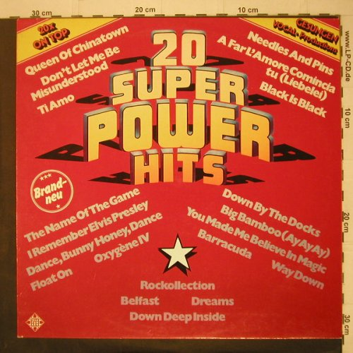 V.A.20 Super Power Hits: gesungen,vocal-prod., Telefunken(6.23328 AF), D, 1977 - LP - C6640 - 4,00 Euro