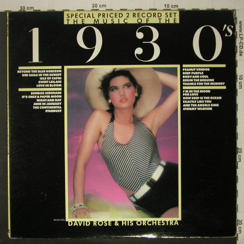 Rose,David & His Orchestra: 1930's, MCA(2-4176), US, 1983 - 2LP - C6723 - 5,00 Euro