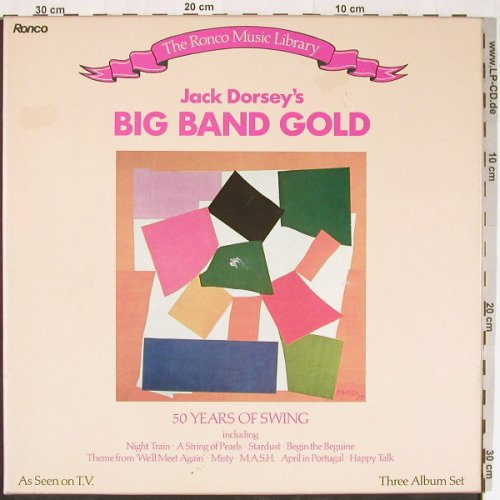 Dorsey,Jack: Big Band Gold,Box, Ronco(RML 107), F, 1983 - 3LP - E1416 - 9,00 Euro