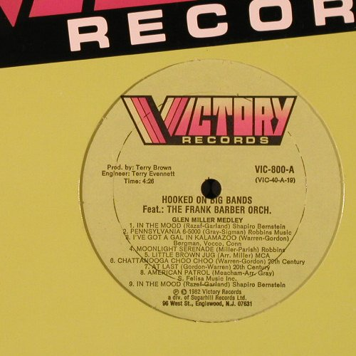 Barber Orch.,Frank: Hooked On Big Bands, FLC, Victory(VIC-800), US, 1982 - LP - E2912 - 6,00 Euro