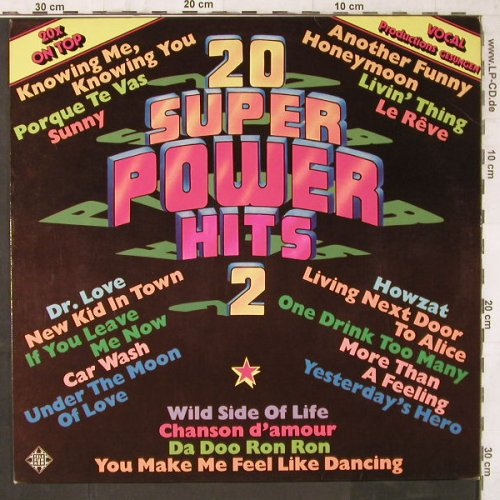 V.A.20 Super Power Hits 2: gesungen,vocal-prod., Telefunken(6.23022 AF), D, 1977 - LP - E6575 - 4,00 Euro