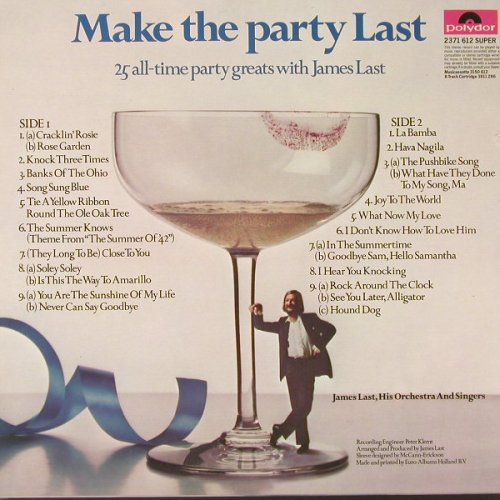 Last,James: Make The Party Last, Polydor(2371 612), NL,  - LP - E8089 - 7,50 Euro